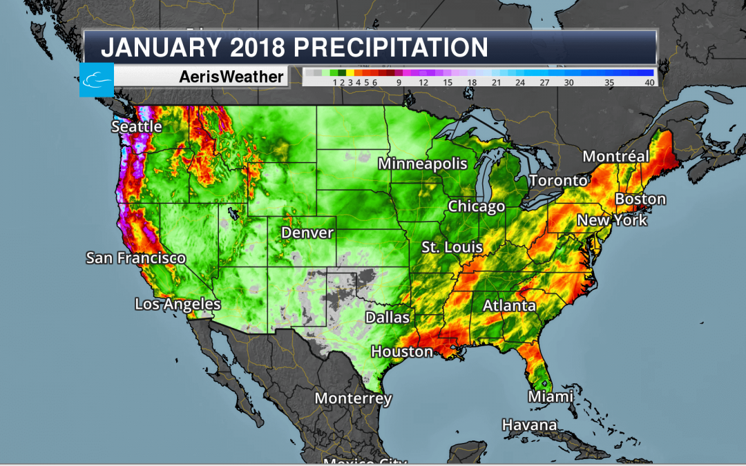 January 2018 Precipitation
