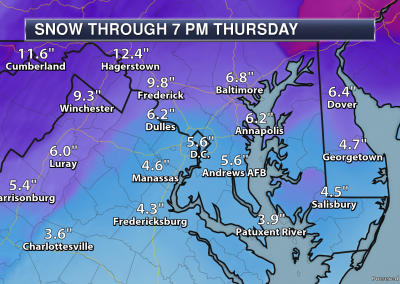 Washington DC Snowfall Forecast