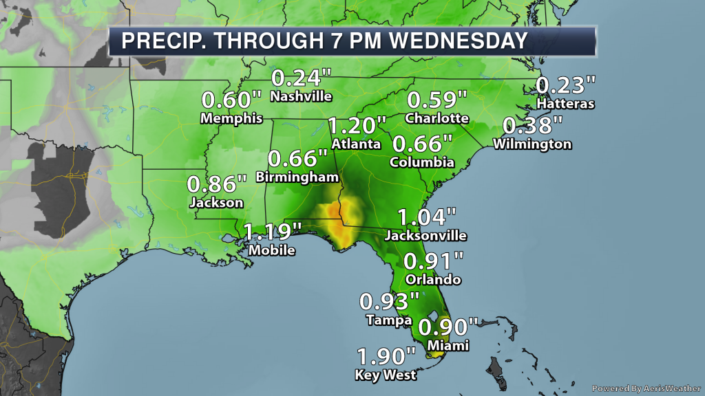 Southeast Rainfall Forecast - Weather Automated Graphics