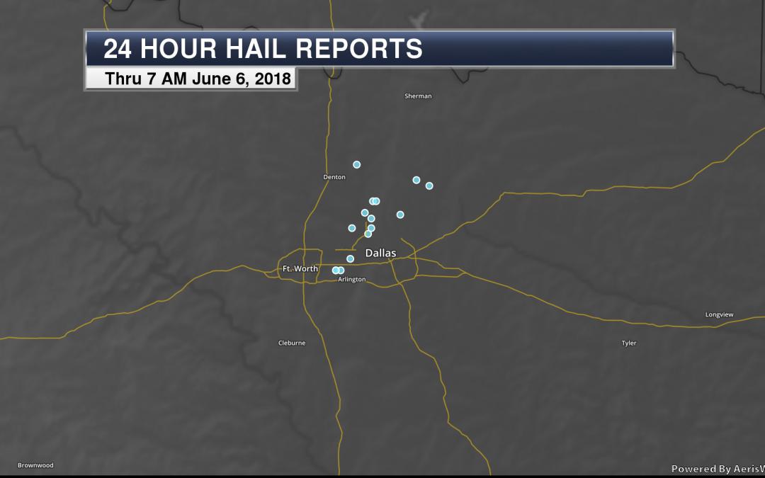 Large Hail Pummeled The Dallas Metroplex