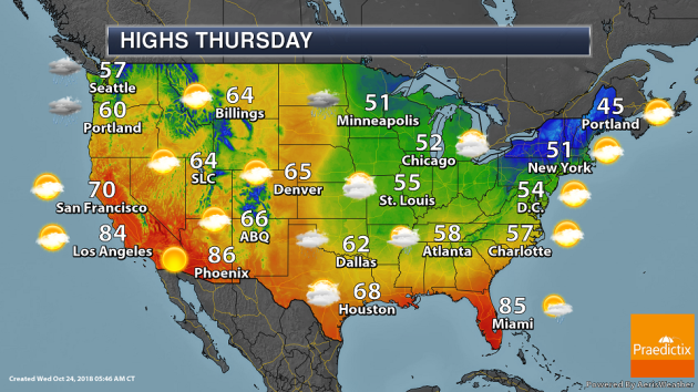 Thursday Weather Outlook – Wet Start To October In The Upper Midwest