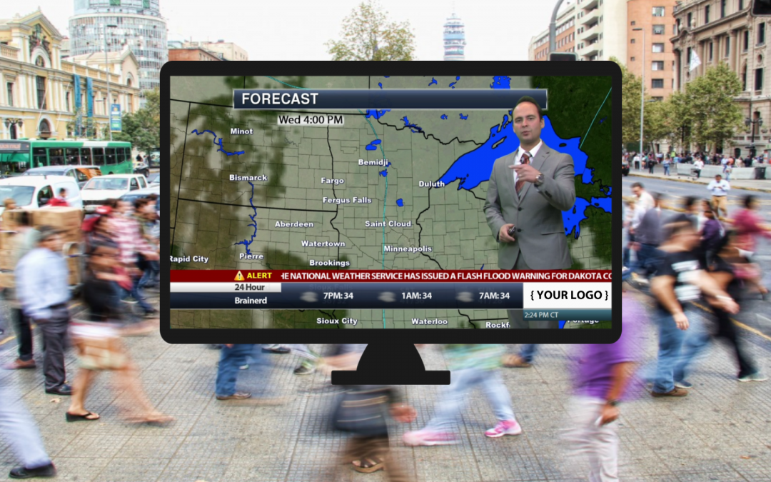 Brand Advertising on Automated Weather Channel on WeatherPlay by Praedictix