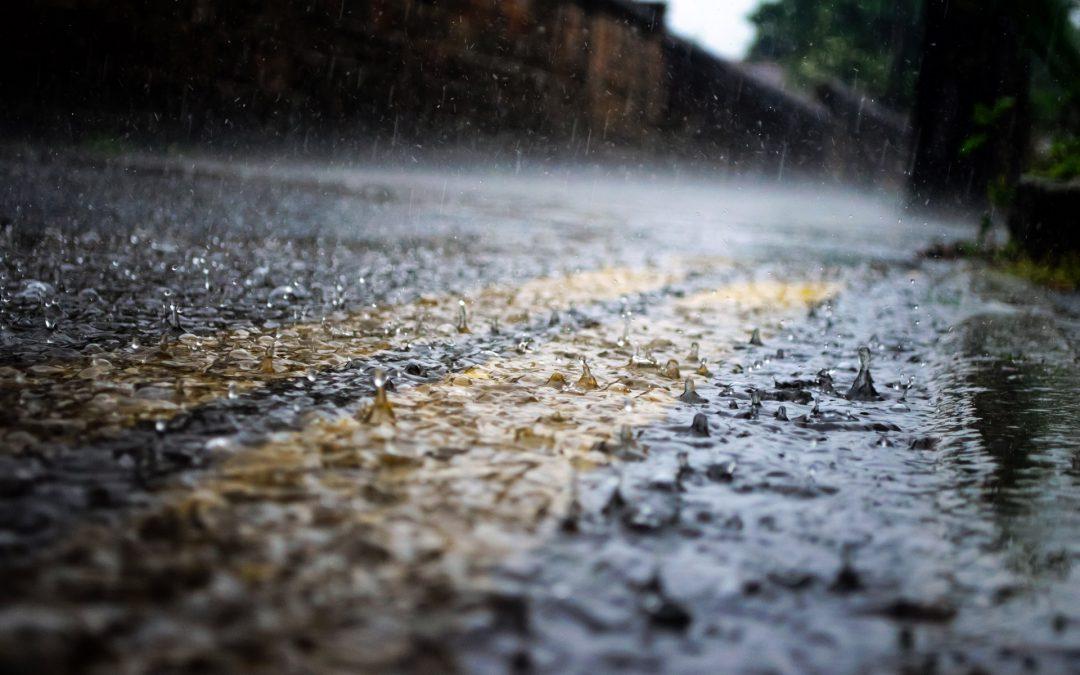 Rain on street close up NPS