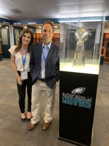 Meteorologists Tracey Anthony & Todd Nelson at Lincoln Financial Field