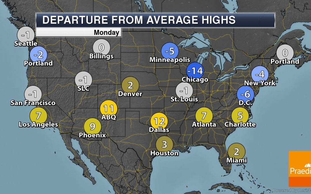More Record Heat This Week – National Weather Outlook For Monday, May The 4th, 2020
