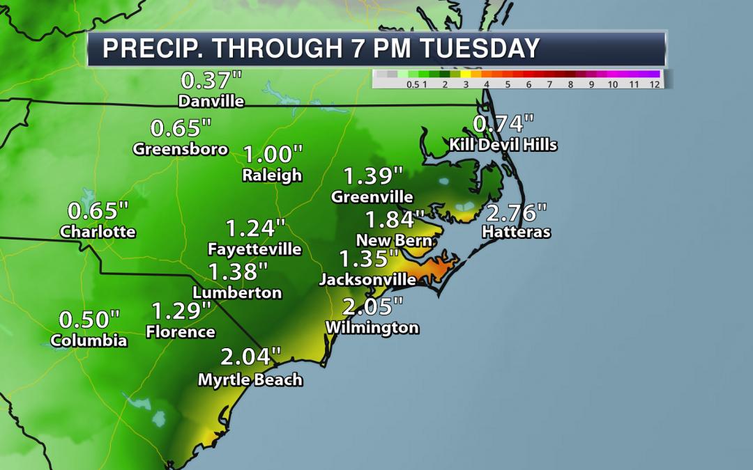 More Heavy Coastal Carolina Rain – Weather Outlook For Monday, June 15, 2020