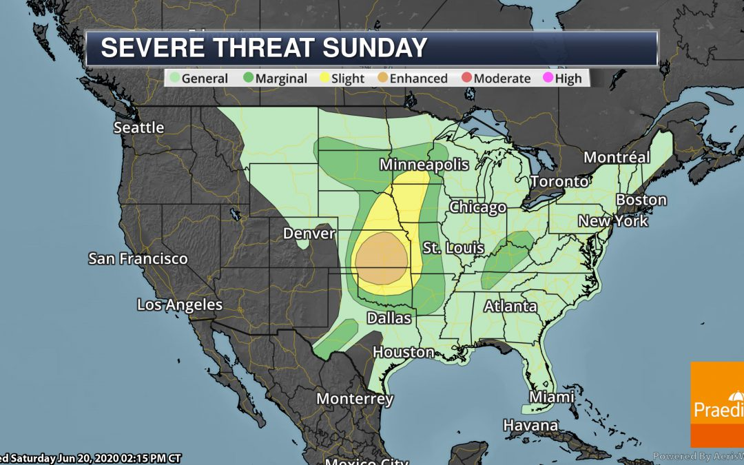 Severe Threat For Father's Day – Weather Outlook For Sunday, June 21, 2020