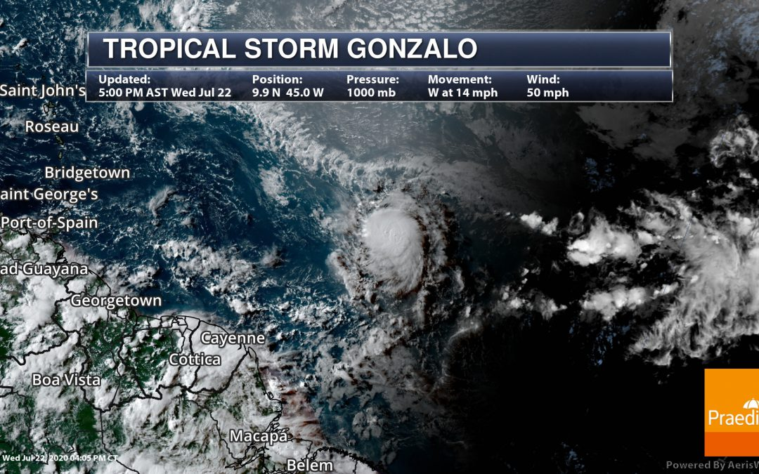 Latest On Gonzalo and Douglas – National Weather Outlook For July 23, 2020