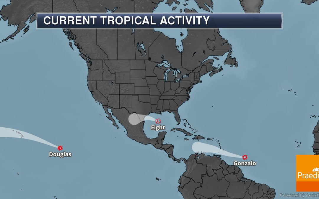 Tracking Eight, Gonzalo, and Douglas – National Weather Outlook For July 24, 2020
