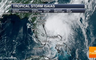 Tracking Isaias Along The East Coast – National Weather Outlook For August 3, 2020