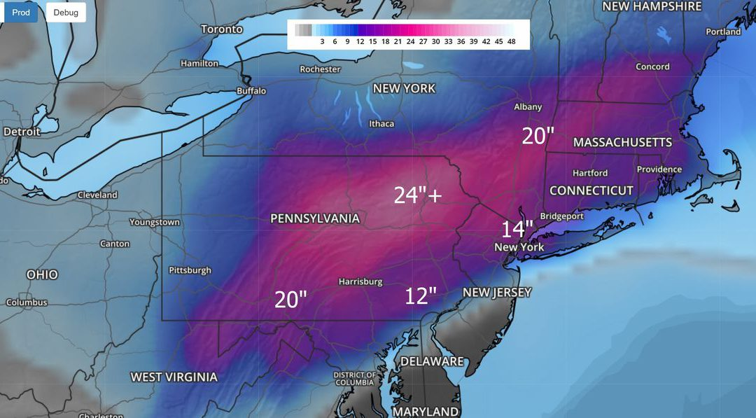 Northeast Snowpocalypse – Winter Season Severity Index – 2020: Second Hottest Year on Record?