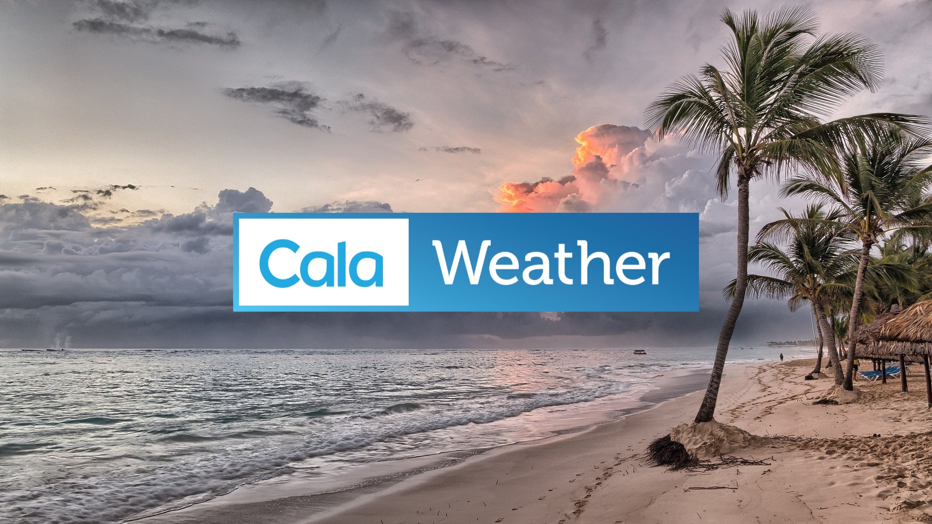caribbean beach with calaweather logo