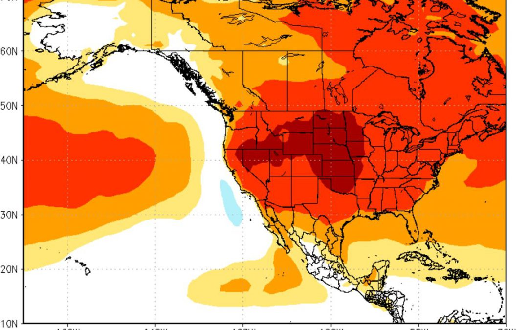NOAA CPC Models: Hot Summer Coming? Tornado Alley is So 1990 – Where EF5 Tornadoes Have Hit the USA
