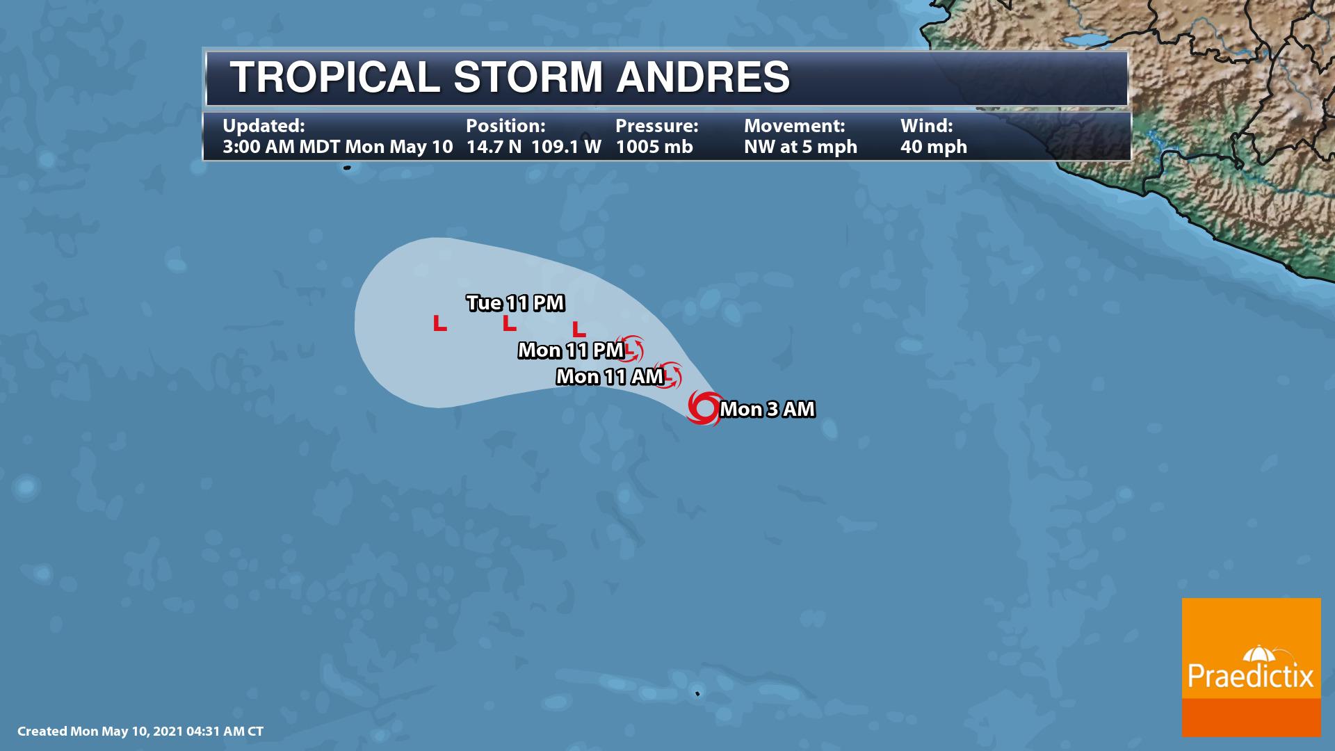 TS Andres Forecast