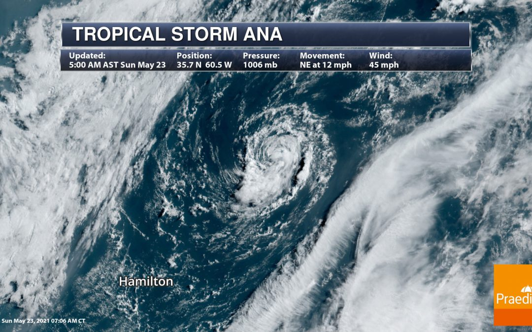 Subtropical Storm Ana Has Formed – National Weather Outlook For May 23, 2021