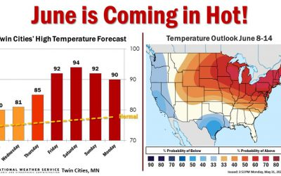 Heat Wave Brewing – Can 5G Help Severe Storm Warnings – NHC Updating Surge Model